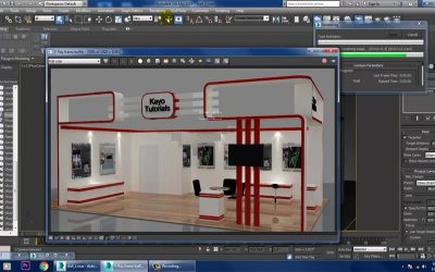 Learn Online Course for 3ds Max & V-Ray, 3D Exhibition Stall Modeling, Texturing & Lighting
